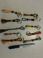 10 Hand Hitched Horse Hair Keychains Montana State Prison Hand Made Collectable