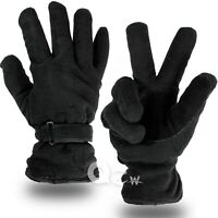 Men Women Cold Proof Winter Warm Thermal Work Driving Ski Fleece Glove Black New