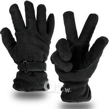 Men Women Cold Proof Winter Warm Thermal Work Driving Ski Fleece Glove Black New