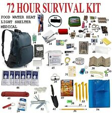 72 Hour 3Day Disaster Emergency Survival Kit Bug Out Bag Camping Hiking backpack
