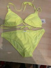Ladys F&F Lime Green Neon Bikini, Size 10, New