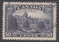 "Canada Scott #226 50 cent Parliament Victoria BC  ""KGV Pictorial""   F"