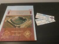 Vintage MLB Texas Rangers Arlington Field Opening Day Program