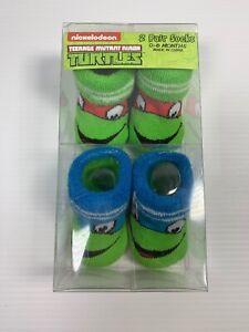 Nickelodeon Teenage Mutant Ninja Turtles 2 pair 0-6 months socks / Booties TMNT