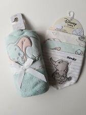 Disney Dumbo set including towel and bandana bibs x3 NEW