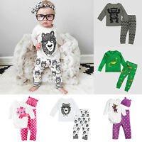 765085cc44d Cute Girls Baby Rompers Jumpsuit Polka Dot Autumn Pants Hat Outfit Clothes  Sets