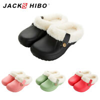 Womens Winter Slippers Indoor Outdoor Clog Plush Lined Warm Fuzzy House Shoes