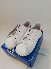 ADIDAS STAN SMITH BABY CRIB SHOES SIZE 5 PINK AND WHITE NEW IN BOX