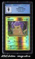 Pokemon (2016) - XY: Evolutions - Pikachu (Reverse Holo) 35/108 - CGC Mint 9.0