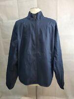 Port Authority Navy Blue Full Zipper Windbreaker Jacket- Mens Size Medium