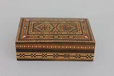Holzkästchen mit Einlegearbeit Marqueterie, wohl Marokko