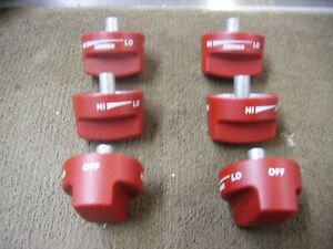 Red Wolf Stove Knobs KIP 5642 3 #3 and 3 #4 New