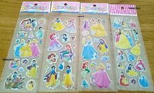 4 Princess Sticker Belle Cinderella Ariel Party Favour Loot bag Filler Scrapbook