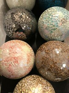 Large Mosaic Decorative Ball / Sphere / Orb - 7 Assorted Colors
