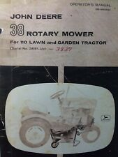 "John Deere 110 Lawn Garden Tractor 38"" Mower Owner & Parts Manual s/n 3551-up"