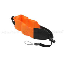 Orange Floating Foam Camera Strap for Nikon Coolpix AW100