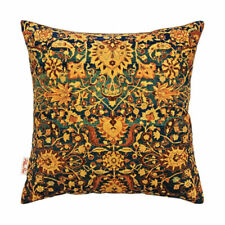 "Persian Rug Inspired Gold Green Blue Cushion Cover 43x43cm -16""x16""-50%OFF"
