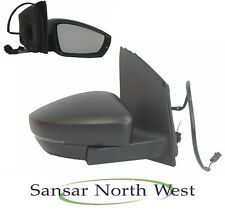 VW Volkswagen Polo MK5 Drivers Door Mirror Manual Adjusted Black O/S RIGHT