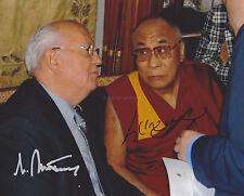 Mikhail Gorbachev & Dalai Lamar HAND Signed 8x10 Photo Autograph USSR President