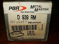 Porsche PBR Disc Brake Pad Set Metal Master D 939 RM Front,Rear 100.06090