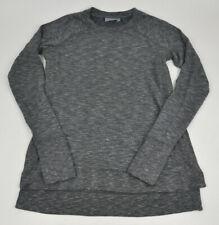 ATHLETA Studio Side Slit CYA Sweatshirt GRAY Space Dye MELANGE Super SOFT Sz XXS