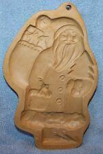 Vintage Brown Bag cookie art mold Santa Claus Saint Nicholas Hill Design 1983