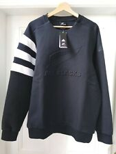 NEW ZEALAND ALL BLACKS Mens Adidas Rugby Crew Neck Sweater Large Black BNWT
