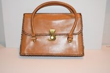 Gucci Handbag, Great Style, Hip Looking Leather Bag with Unique Front Closure