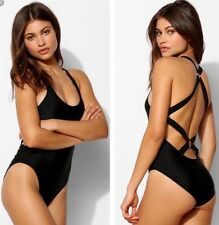NEW Sparkle & Fade Strappy O-Ring One Piece Swimsuit Size Medium