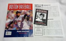 July 2005 Fenway Park Boston Baseball Red Sox Program Ted Williams Memorial Card