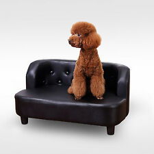 PawHut Pet Sofa Chair Dog Cat Protector Indoor Home PU Bed Couch House Seater