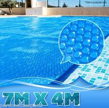 400 Micron Solar Outdoor Swimming Pool Cover Blanket - 7M x4M