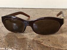 Cartier Women's eyeglass frames Brown w gold temple