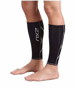 2XU UNISEX COMPRESSION CALF GUARD BLACK/BLACK