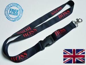 I AM BOSS Lanyard Neck Strap for Keys ID Card Holder 20mm 52 cm Black - Red
