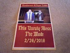Macklemore and Ryan Lewis - POSTER for This Unruly Mess I've Made CD