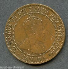 CANADA 1909 EDWARD VII LARGE PENNY  AS SHOWN