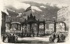 Burns CENTENARIO. il corteo a DUMFRIES: TRIPLA Arch in high street, 1859