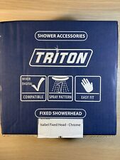 Triton Isabel Circular Fixed Shower Head - Chrome