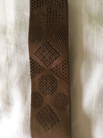 Vintage Retro Suede Leather Necktie. Light Brown. 1960s Pencil Style. Ex. Cond.
