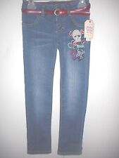 Faded Glory Girls Straight Leg Jeans  Skinny Skull  Youth Size 6 NWT