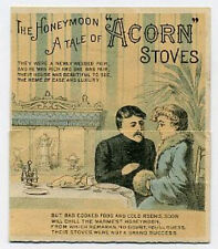 Acorn Stoves metamorphic trade card poem before & after
