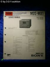 Sony Service Manual MDS MX1 (#1020)