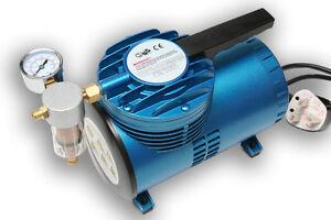 AS06 Mini Diaphragm Air Compressor with Bleed Valve Regulator & Pressure Gauge