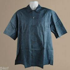 Hawaiian Style Shirt, Cotton, Demin Campshirt Frogtails, SZ L Tim Cotterill