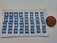 FERRMODEL 293 - Set scritte numeri binari adesivi da 1 a 8 ep. V - VI scala H0