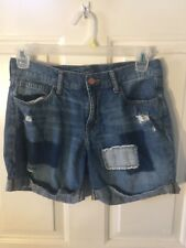 Woman's size 6 jean patchwork shorts