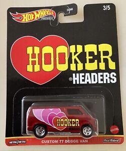 Hot Wheels Hooker Headers 1:64 Custom 77 Dodge Van Real Riders Die cast