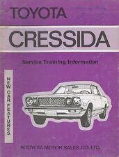 1977 TOYOTA CRESSIDA SERVICE TRAINING KUNDENDIENST ENGLISCH 98901
