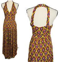 Anthropologie Maeve Luella Yellow Floral Boho Maxi Dress Medium